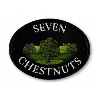 Chestnut Tree Tree House Sign house sign