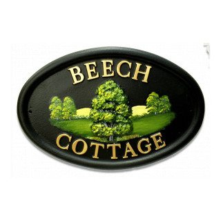 Beech Small Tree House Sign house sign
