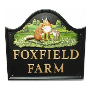 Fox & Cub Large Animal house sign