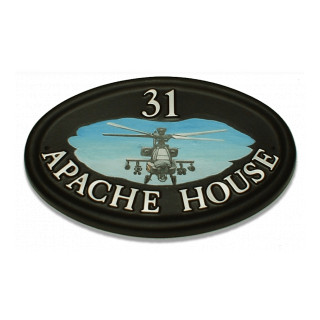 Helicopter Apache Miscellaneous House Sign house sign