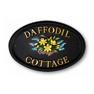 Daffodils Flower House Sign house sign