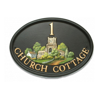 Church Tower Miscellaneous House Sign house sign