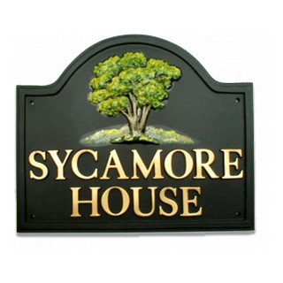 Sycamore Tree house sign