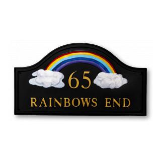 Rainbow Miscellaneous House Sign house sign
