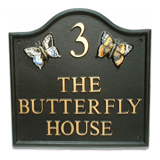 Butterflies Animal House Sign house sign