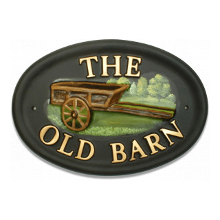 Wooden Cart Miscellaneous House Sign house sign