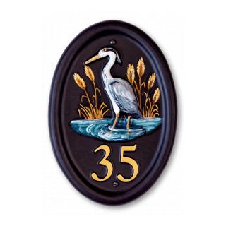 Heron Split Layout Bird House Sign house sign