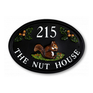 Squirrel With Acorns Animal House Sign house sign