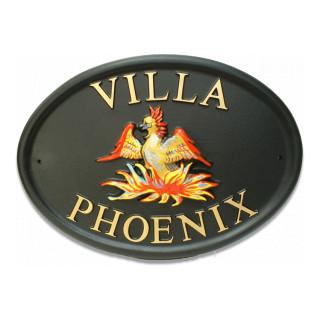 Phoenix Bird House Sign house sign
