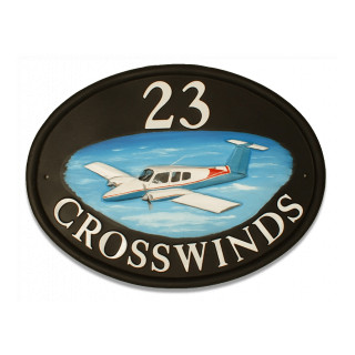 Plane Duchess Beechcraft Be76 Miscellaneous House Sign house sign
