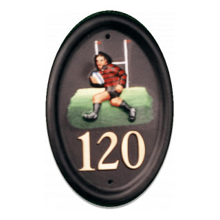 Rugby Player Miscellaneous House Sign house sign