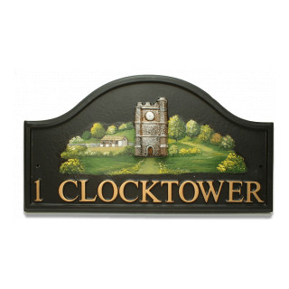 Clock Tower Miscellaneous House Sign house sign