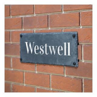 Westwell Slate House Sign house sign