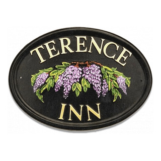 Wisteria Flower House Sign house sign