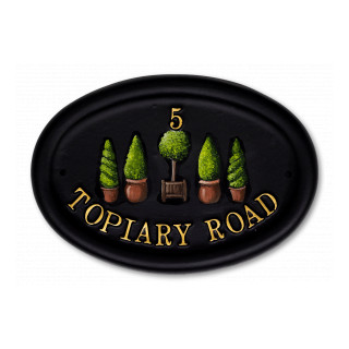 Topiary Tree House Sign house sign