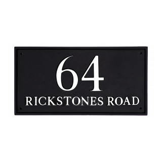 Rectangle House Number house sign