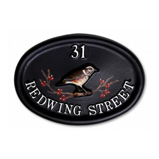 Redwing Bird House Sign house sign