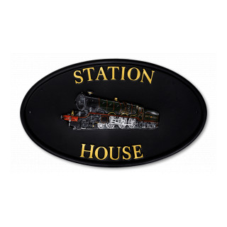 Train Miscellaneous House Sign house sign