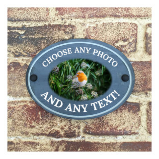 Photo on Slate House Sign Slate House Sign house sign