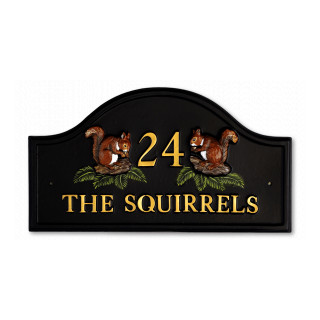 Squirrels Split Animal House Sign house sign