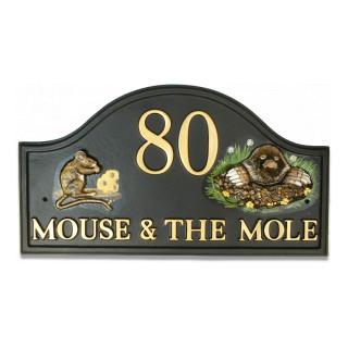 Mouse & Mole Animal house sign