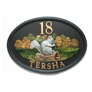 Squirrel Grey Animal House Sign house sign