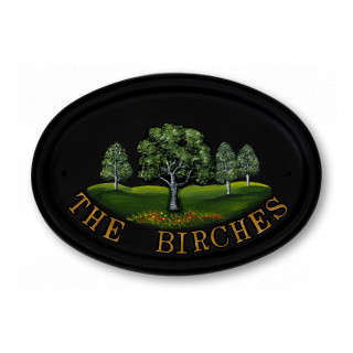 Birch Tree House Sign house sign