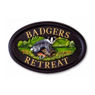 Badger Animal house sign