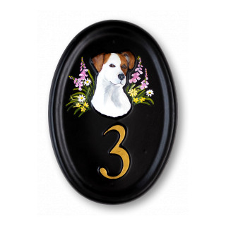 Jack Russell Head Dog House Sign house sign