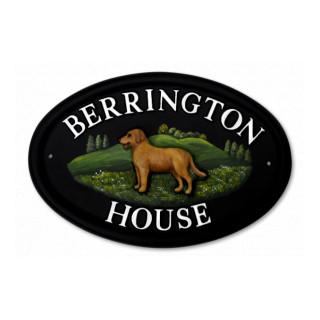 Labrador Full Dog House Sign house sign