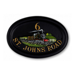 Steam Train Miscellaneous House Sign house sign