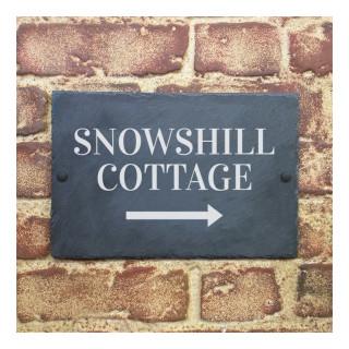 Snowshill Arrow Slate House Sign house sign