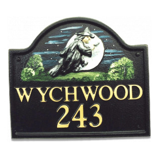 Witch On Broomstick Miscellaneous House Sign house sign
