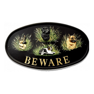 Dogs Mixed Dog house sign