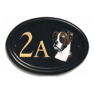 Boxer Head Dog house sign