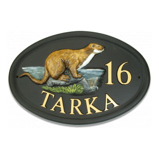 Otter Water Scene House Sign house sign