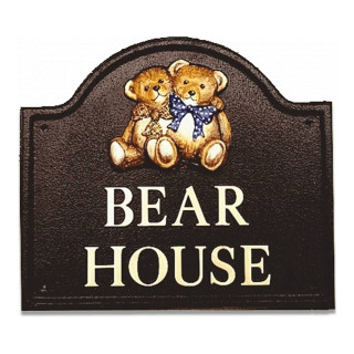 Twin Teddies Miscellaneous House Sign house sign