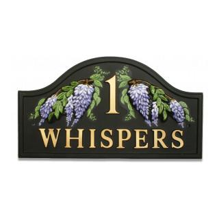 Wisteria Split Flower House Sign house sign
