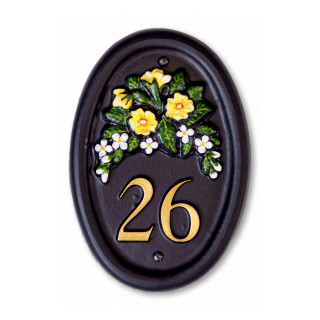 Primrose & Small Flowers Flower House Sign house sign