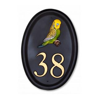 Budgie Bird House Sign house sign
