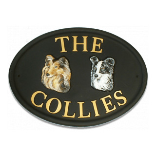 Border Collie & Rough Collie Dog house sign