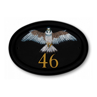 Peregrine Falcon Flat Painted Bird House Sign house sign
