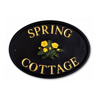 Primrose Flower House Sign house sign