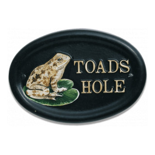 Toad Water Scene house sign