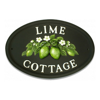 Limes Flower house sign