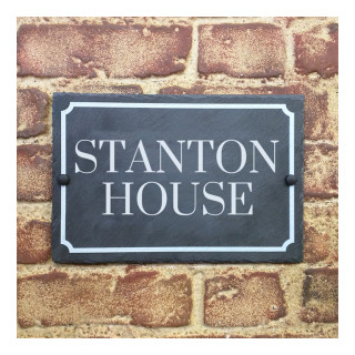 Stanton Slate House Sign house sign