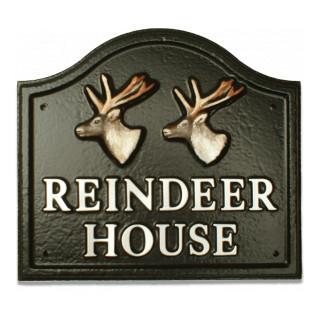 Reindeer Heads Animal house sign