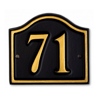 Arch Painted Rim House Number house sign