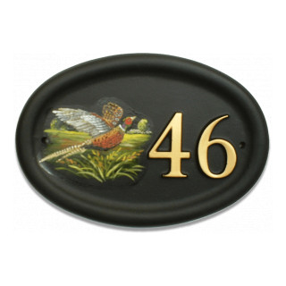 Pheasant Flat Painted Bird House Sign house sign