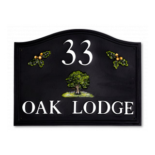 Oak & Split Acorns Tree House Sign house sign